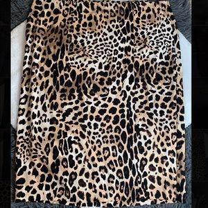 Lane Bryant plus size animal print pencil skirt